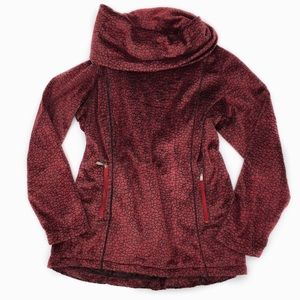 Wooly Bully Soft Fleece Pullover Cowl Neck Sweater